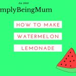 How To make Watermelon Lemonade