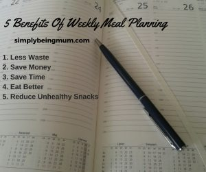 5 Benefits To Weekly Meal Planning