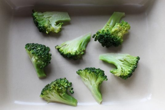Drained broccoli