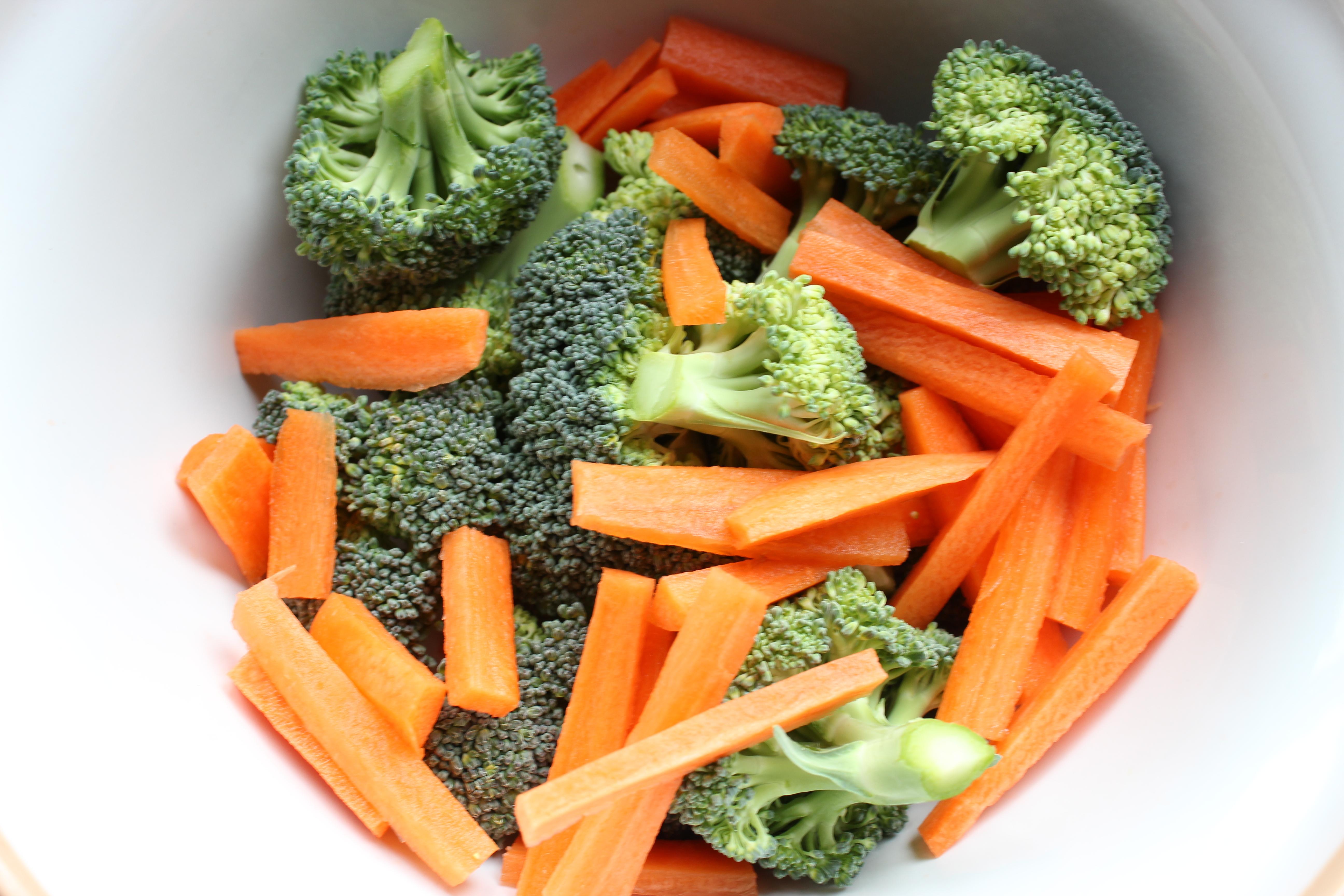broccoli, carrots