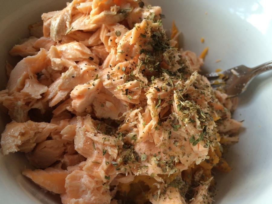 Sweet Potato, Salmon & Herbs