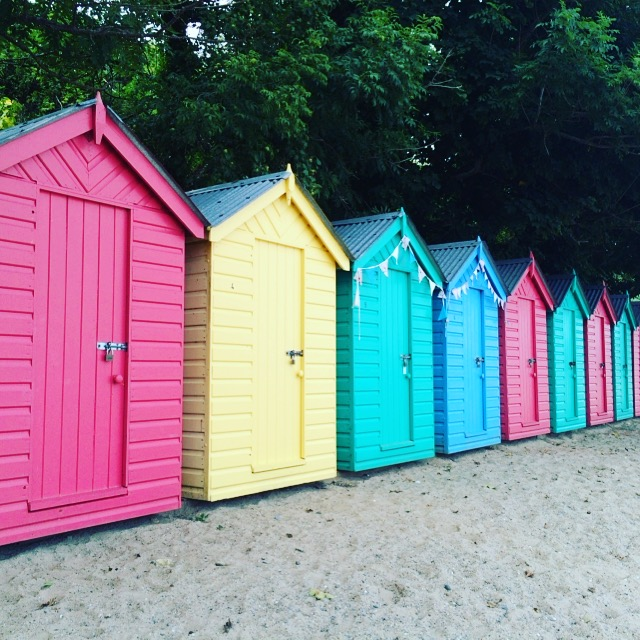 Beach Huts at Llanbedrog Wales
